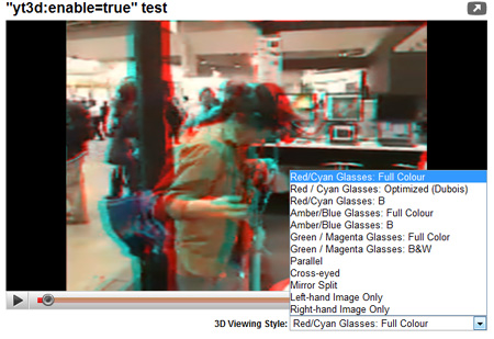 YouTube Testing 3D Vidoes
