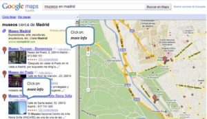 Google Map Results for searching local directories