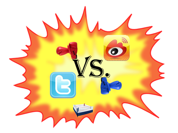 Picture of Weibo and Twitter