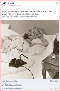 Marilyn Monroe Chanel