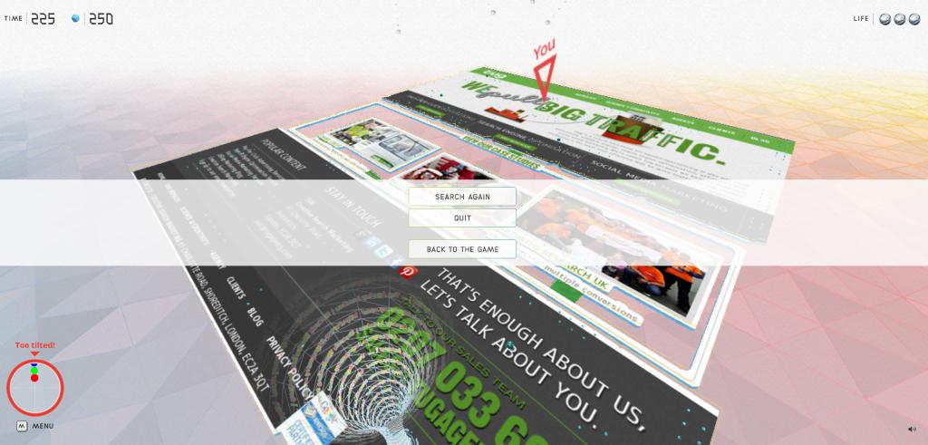 google chrome web maze
