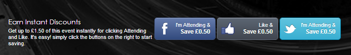 social sharing discount