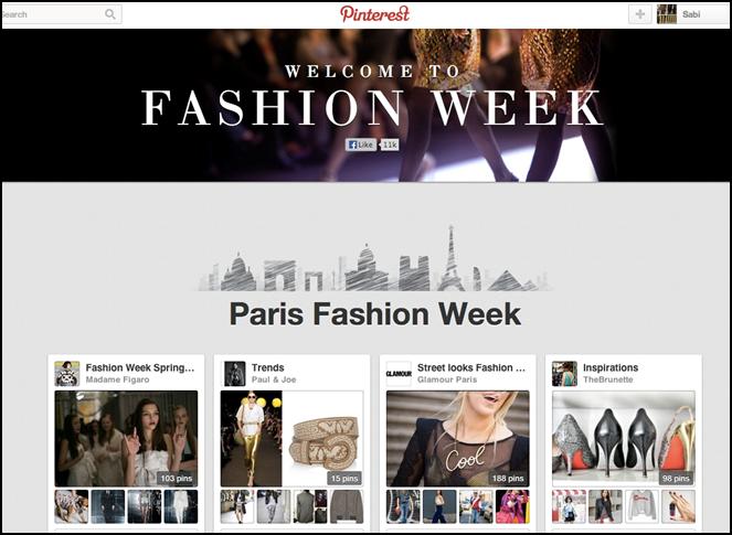 PINTEREST Paris Fashion Week