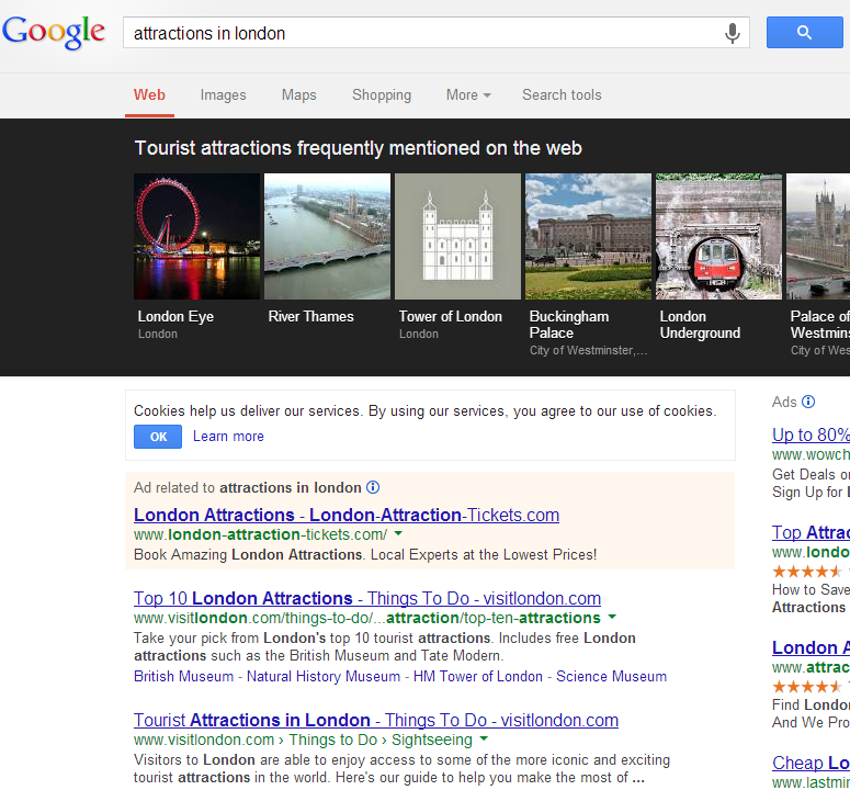 Google carousel attractions example