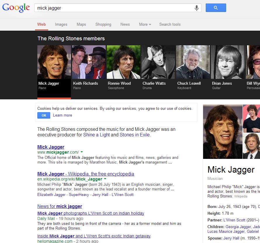 Google carousel image click