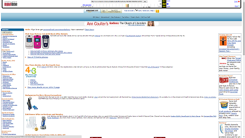 Amazon.com's Homepage in 2006