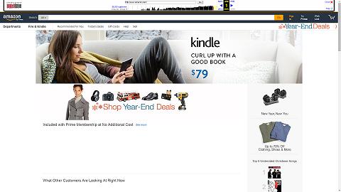 Amazon.com's Homepage in 2015