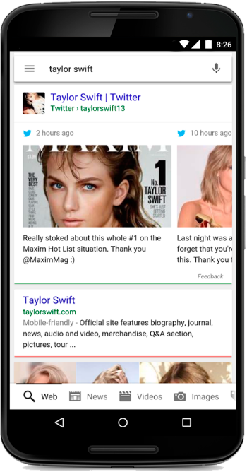 Taylor Swift - Twitter Mobile Search