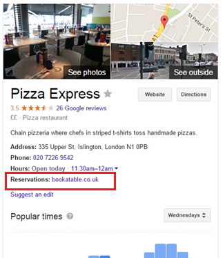 Pizza Express Knowledge Graph