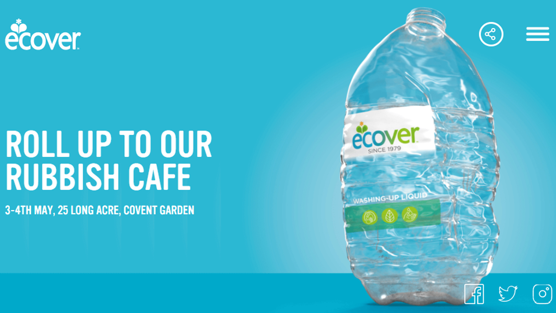 Ecover rubbish cafe