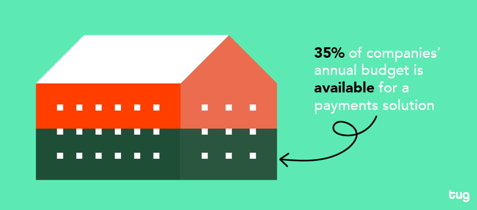 Over a third of companies' budget is available for payments solutions